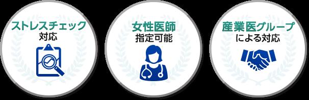 ストレスチェック対応!女性医師指定可能!産業医グループによる対応!